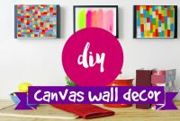 Fancy Diy ✂ Wall Art- 2 Supereasy & Simple Canvas Ideas – Youtube within Fresh Diy Wall Painting Ideas