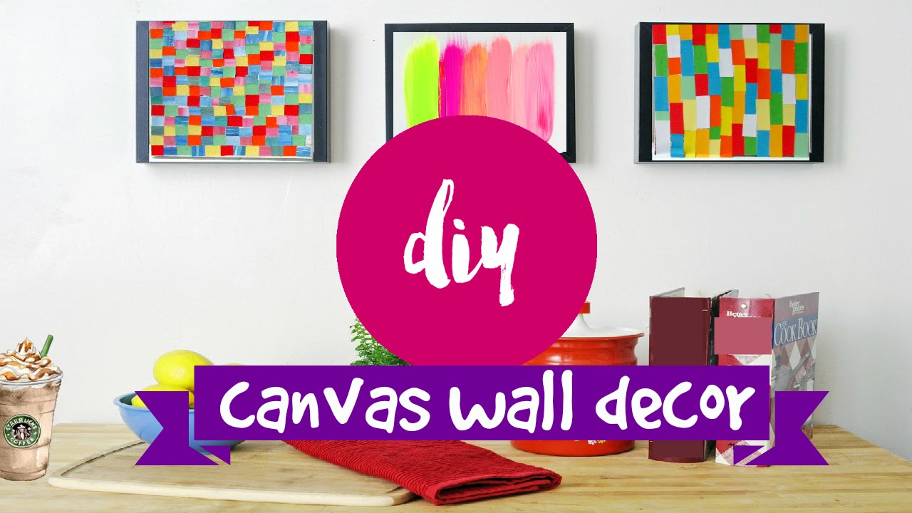 Fancy Diy ✂ Wall Art- 2 Supereasy & Simple Canvas Ideas - Youtube within Fresh Diy Wall Painting Ideas