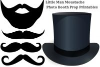 Fancy Diy Moustache Photo Booth Printable Props – Baby Shower Ideas within Awesome Little Man Baby Shower Free Printables