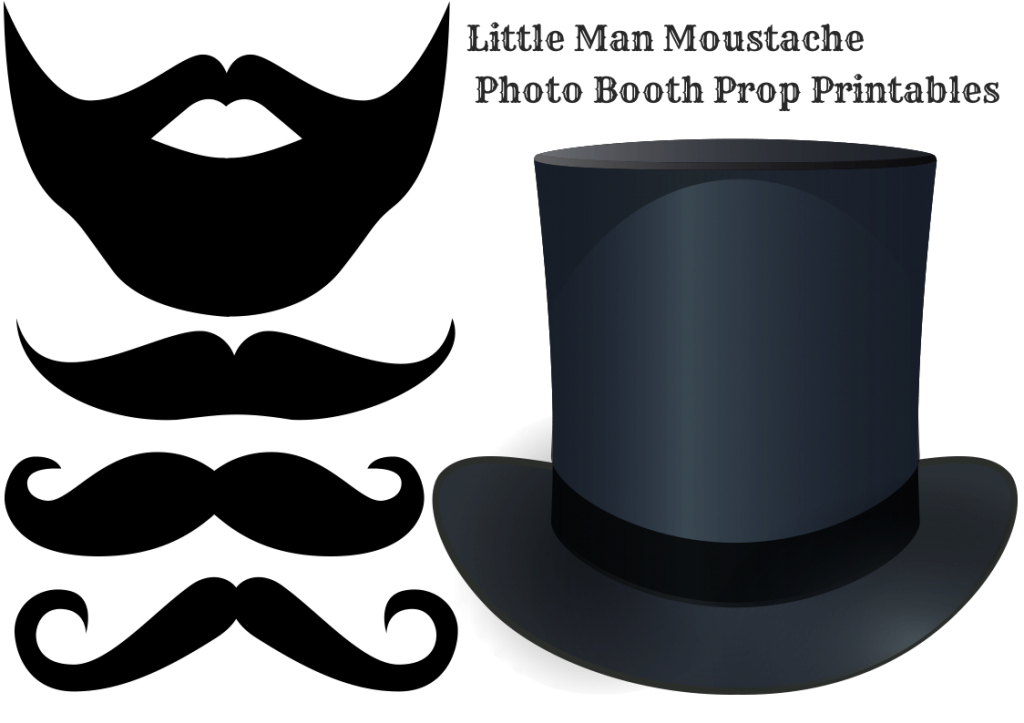 Fancy Diy Moustache Photo Booth Printable Props - Baby Shower Ideas within Awesome Little Man Baby Shower Free Printables