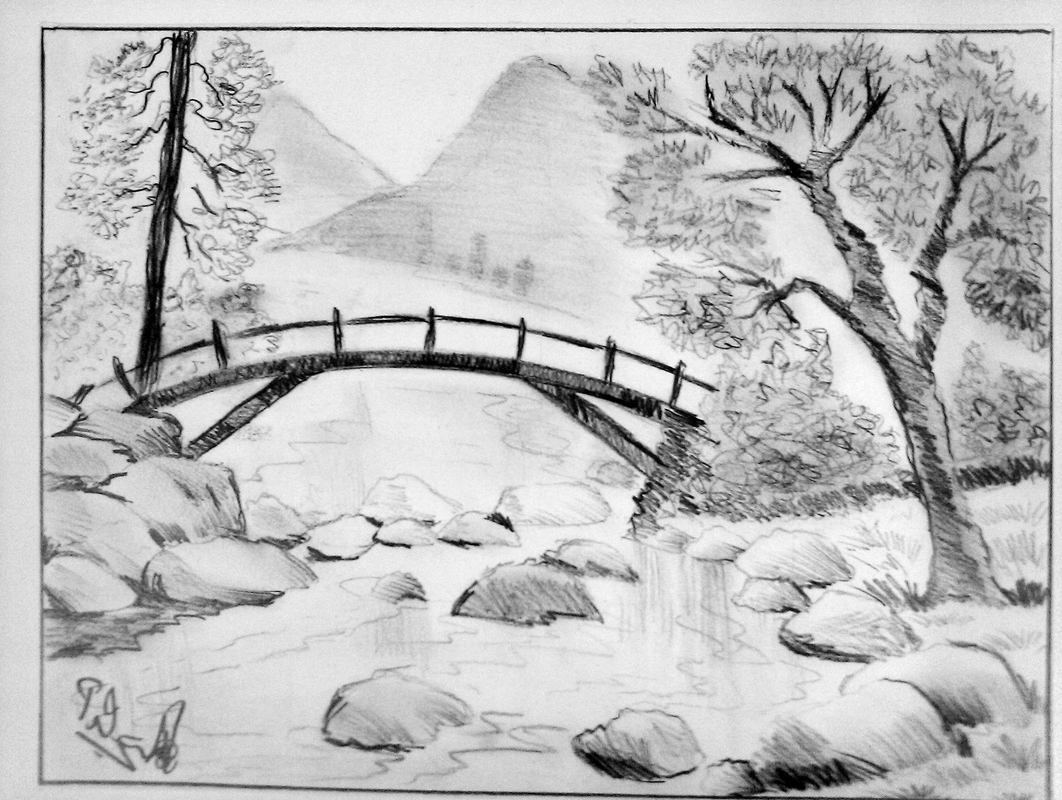 Fancy Drawing Landscape Ideas - Drawing Art And Sketches with regard to Landscape Drawing Ideas
