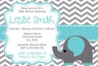Fancy Elephant Baby Shower Invitations Templates | Datariouruguay regarding Lovely Free Baby Shower Invitations