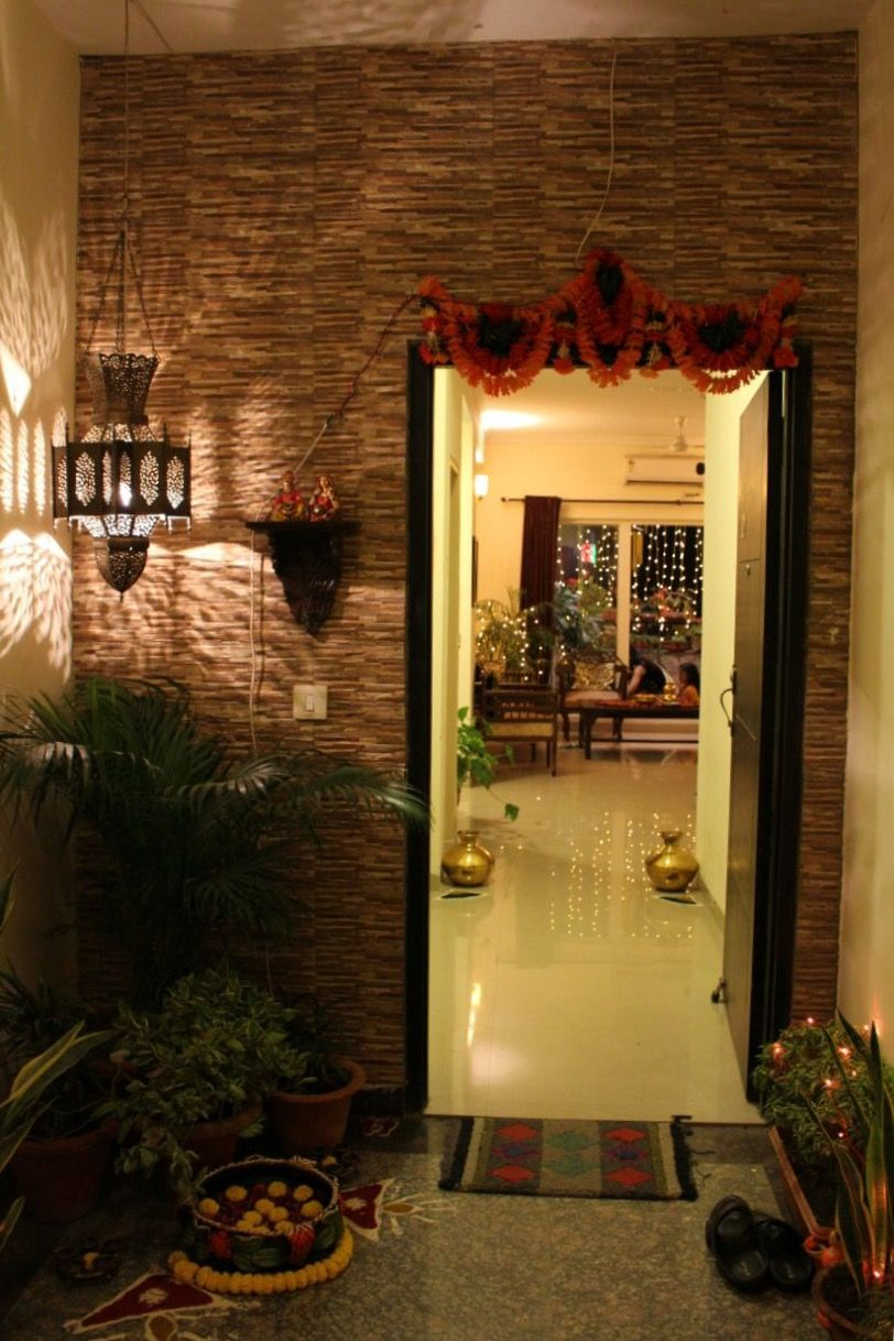 Fancy Entrance Decor, Indian Home Decor | Home And Spaces | Pinterest regarding Unique Indian Home Entrance Decoration