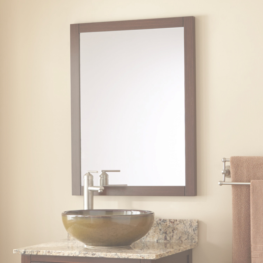 Fancy Everett Vanity Mirror - Wenge - Bathroom intended for Bathroom Sink Mirror