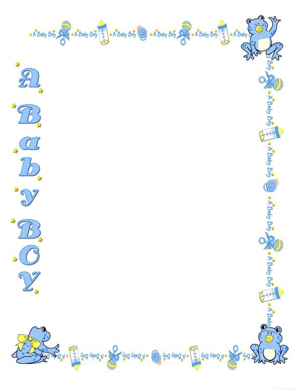 Fancy Free Baby Shower Border Templates - Cliparts.co | Baby Shower for Unique Baby Shower Borders