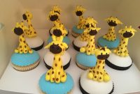 Fancy Giraffe Cupcakes For My Giraffe Themed Baby Shower. Made throughout Giraffe Themed Baby Shower