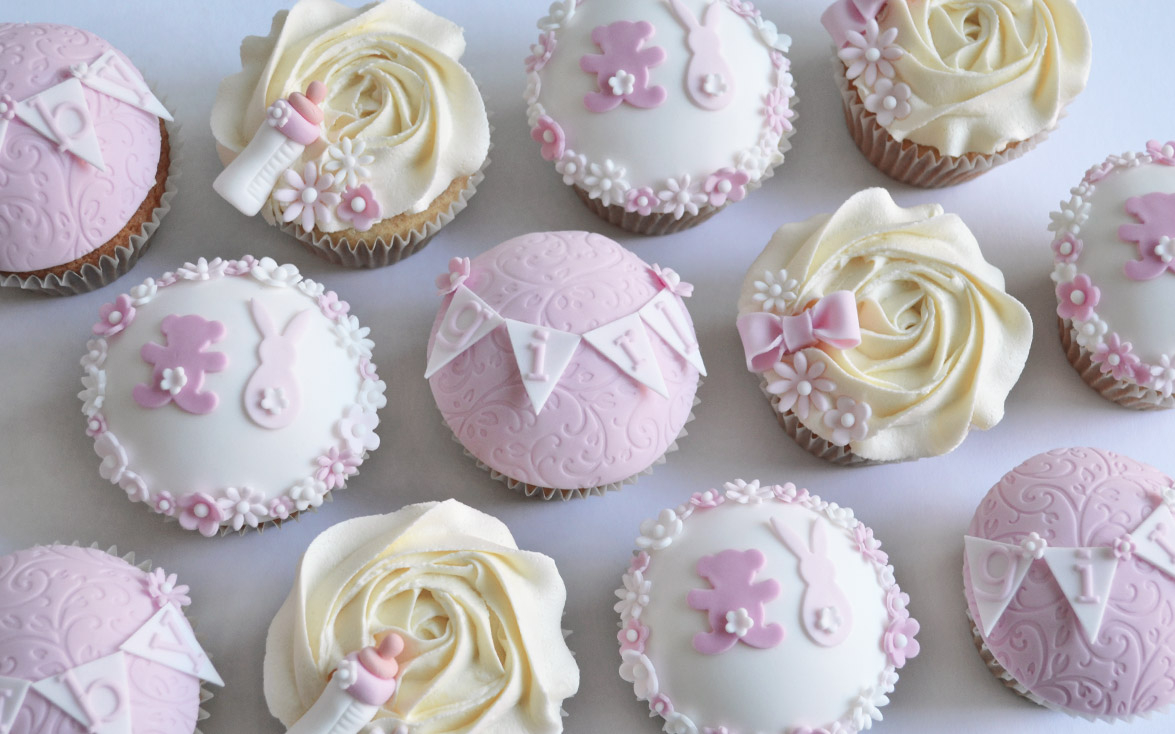 Fancy Girls Baby Shower Cupcakes, Cake Maker Liverpool Cake Shop St Helens regarding Baby Shower Cupcakes
