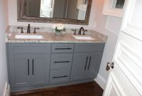 Fancy Grey Shaker Cabinets With Oil Rubbed Bronze Pulls And Faucets inside Best of Shaker Bathroom Cabinets