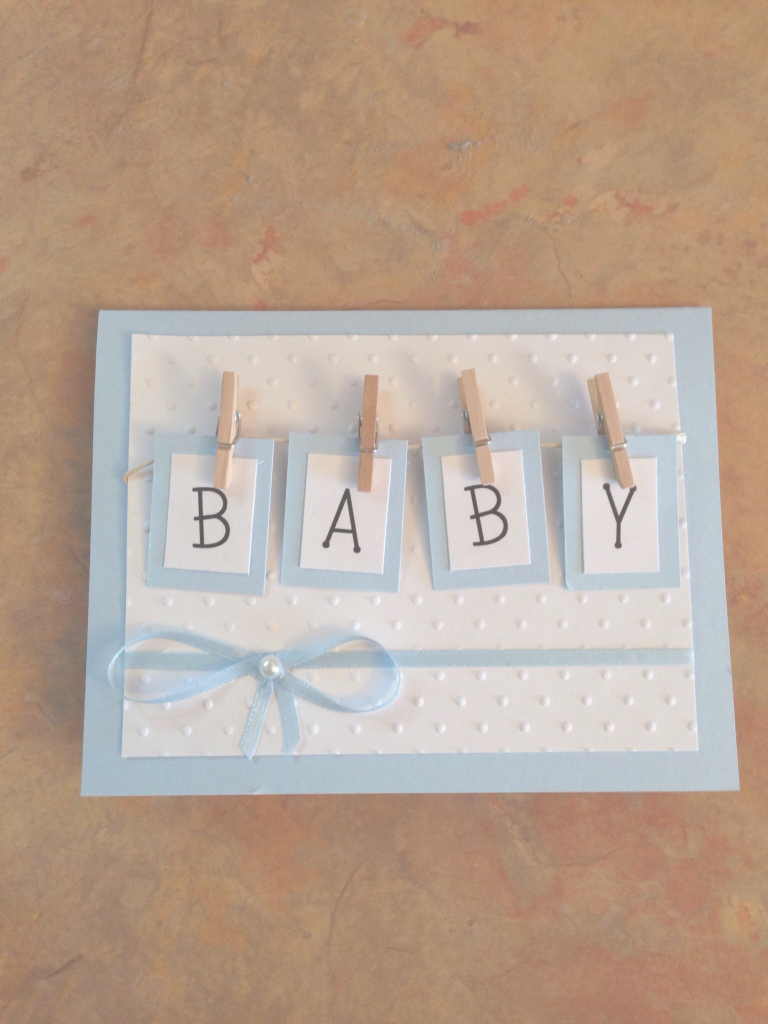 Fancy Handmade Baby Shower Card  Tiny Clothespins Attach Boxes With inside Baby Shower Cards