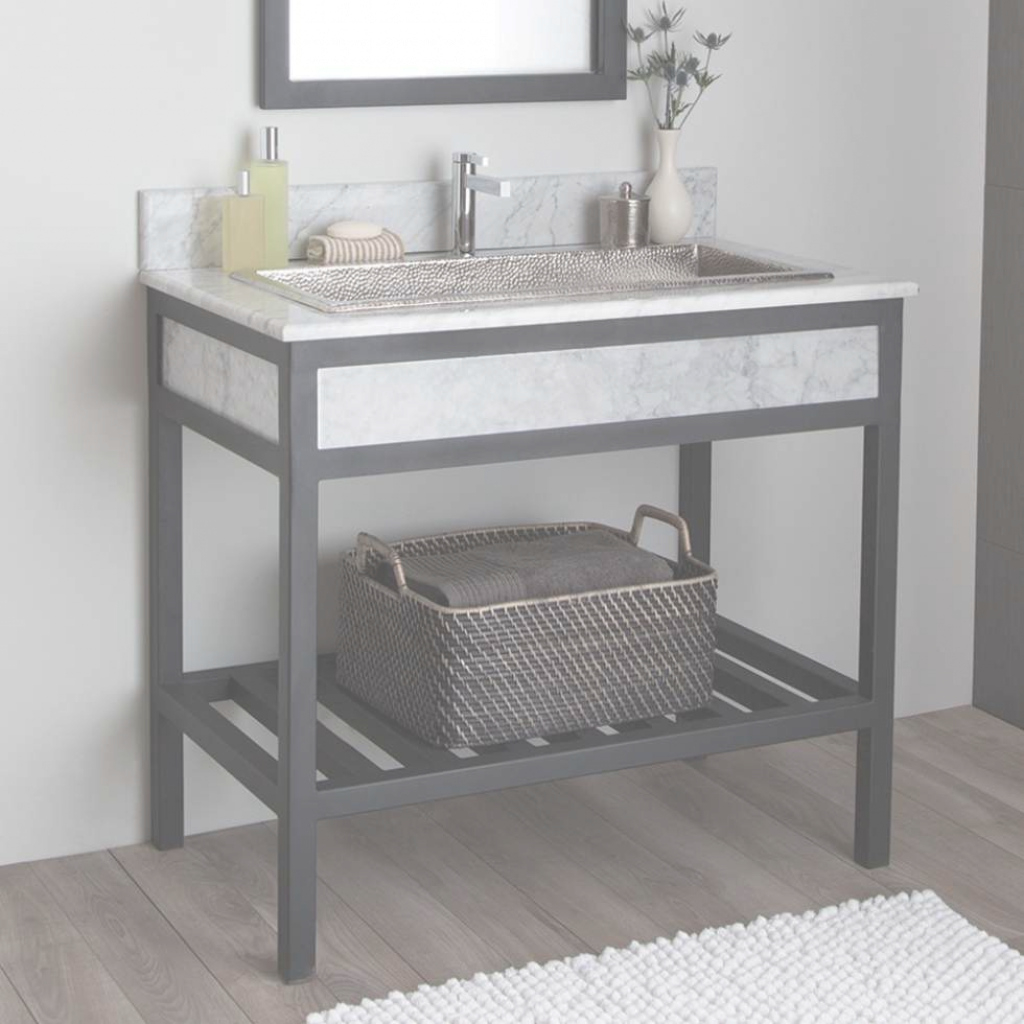 Fancy Home Decor : Metal Bathroom Vanities Complete Ideas Example 3 Metal within Set Metal Bathroom Vanity