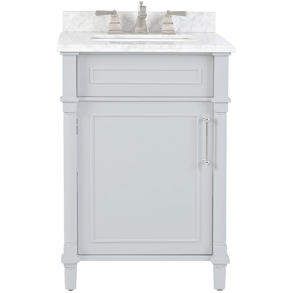 Fancy Home Decorators Collection Aberdeen 24 In. W X 22 In. D Bath Vanity for 24 Inch White Bathroom Vanity
