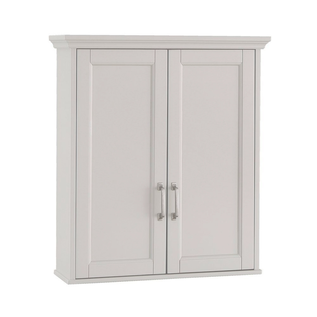 Fancy Home Decorators Collection Ashburn 23-1/2 In. W X 28 In. H X 7-88 intended for Wall Bathroom Cabinets