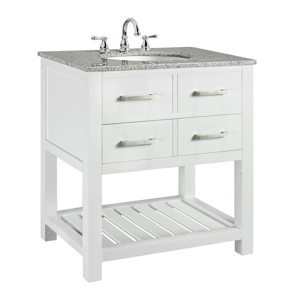 Fancy Home Decorators Collection Fraser 31 In. W X 21.5 In. D Bath Vanity in Unique Home Depot Vanities For Bathrooms