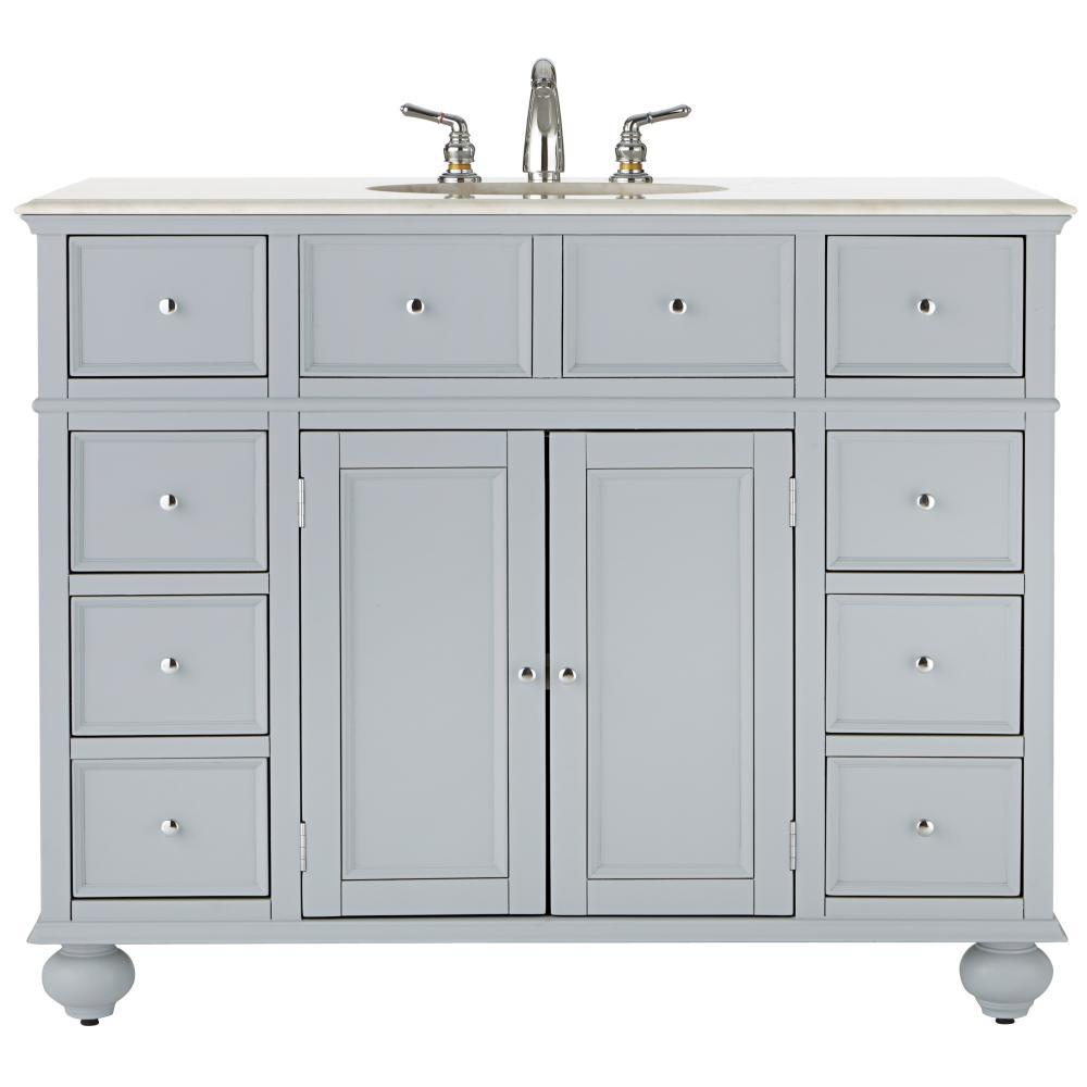 Fancy Home Decorators Collection Hampton Harbor 44 In. W X 22 In. D Bath with regard to Luxury 44 Bathroom Vanity