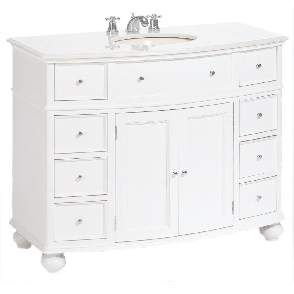 Fancy Home Decorators Collection Hampton Harbor 45 In. W X 22 In. D Bath regarding Elegant White Bathroom Vanity Home Depot