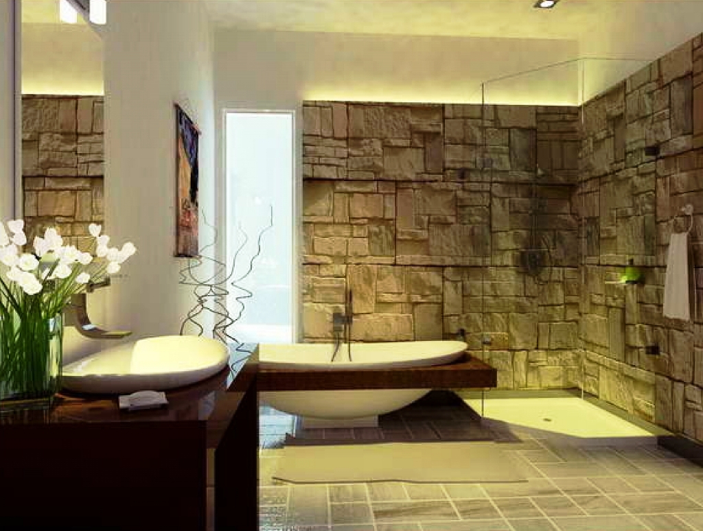 Fancy Home Design : Bathroom Natural Style Spa Bathroom Decor With Unique regarding Elegant Spa Bathroom Decor Ideas