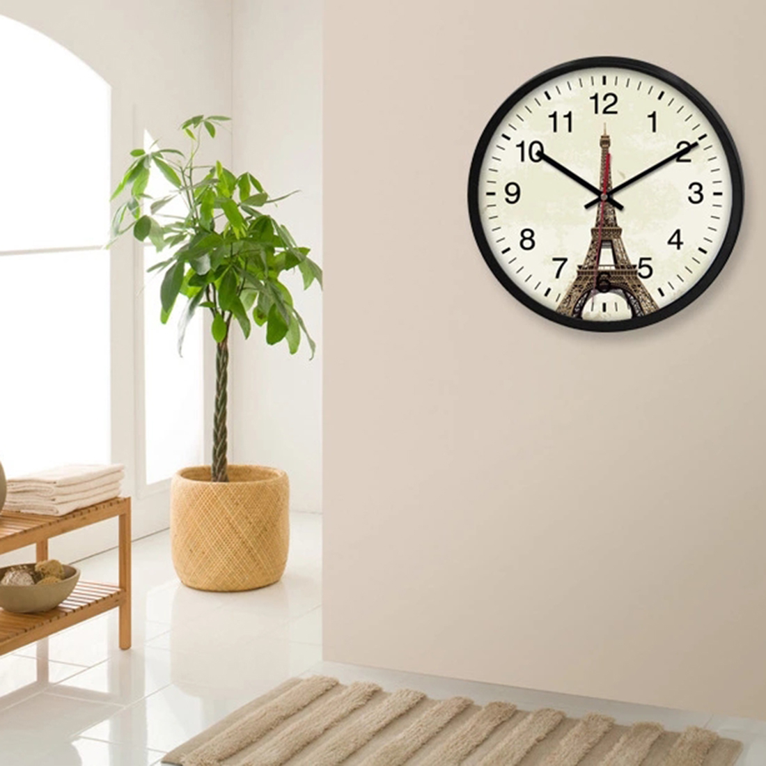 Fancy Homingdeco 12 Inch Large Decorative Wall Clocks Modern Design Silent regarding Lovely Living Room Wall Clocks