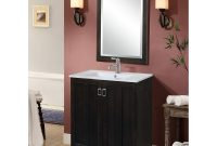 Fancy In Series 30 Inch Classic Single Sink Bathroom Vanity Dark Brown Finish regarding Beautiful Dark Bathroom Vanity
