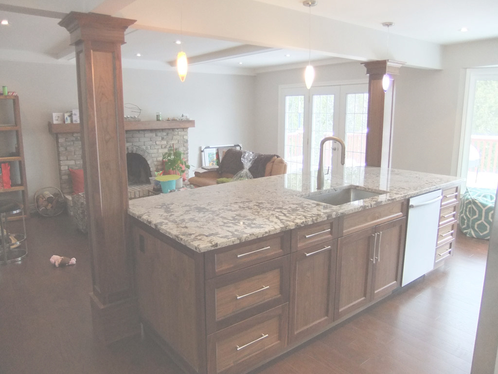 Fancy Index Of /gallery/photos/kitchens/burlington Kitchen 1 in Kitchen Island With Columns