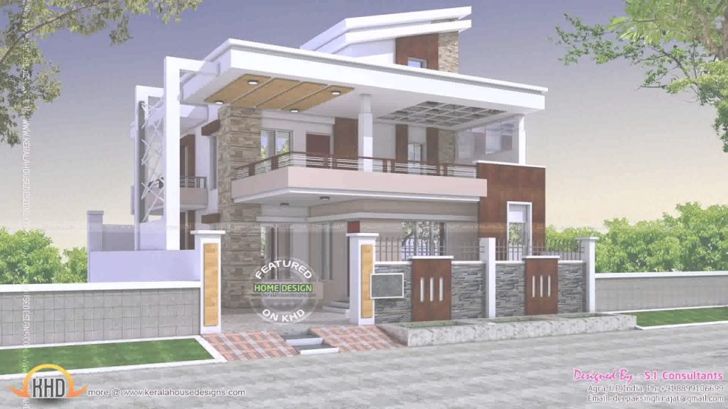 Fancy Indian House Designs Photos For Middle Class - Youtube pertaining to Awesome Indian Home Exterior Design Photos Middle Class