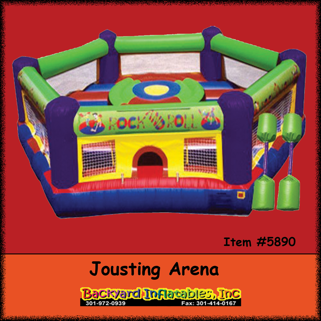 Fancy Inflatable Jousting - Backyard Inflatables in Backyard Inflatables