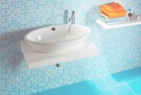 Fancy Interior: Amusing Light Blue Bathroom Decoration With Blue Mosaic for Best of Blue Mosaic Bathroom