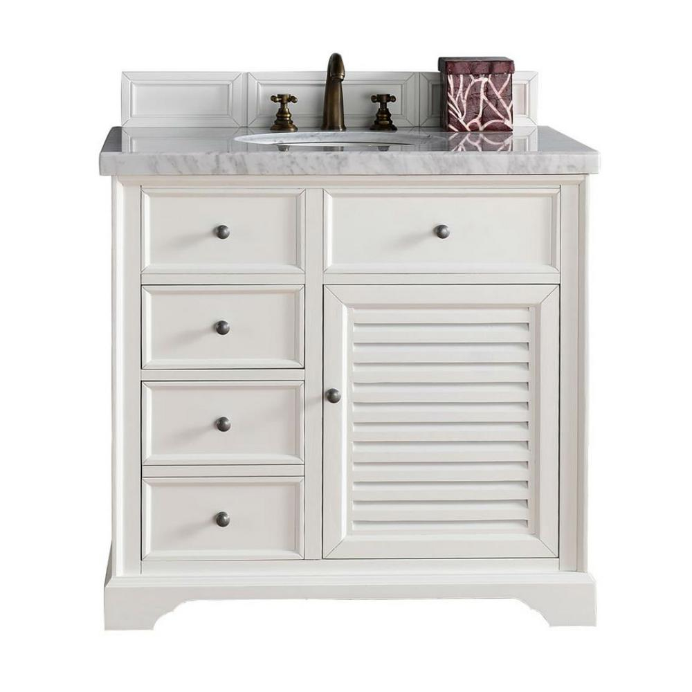 Fancy James Martin Signature Vanities Savannah 36 In. W Single Vanity In inside 36 In Bathroom Vanity With Top