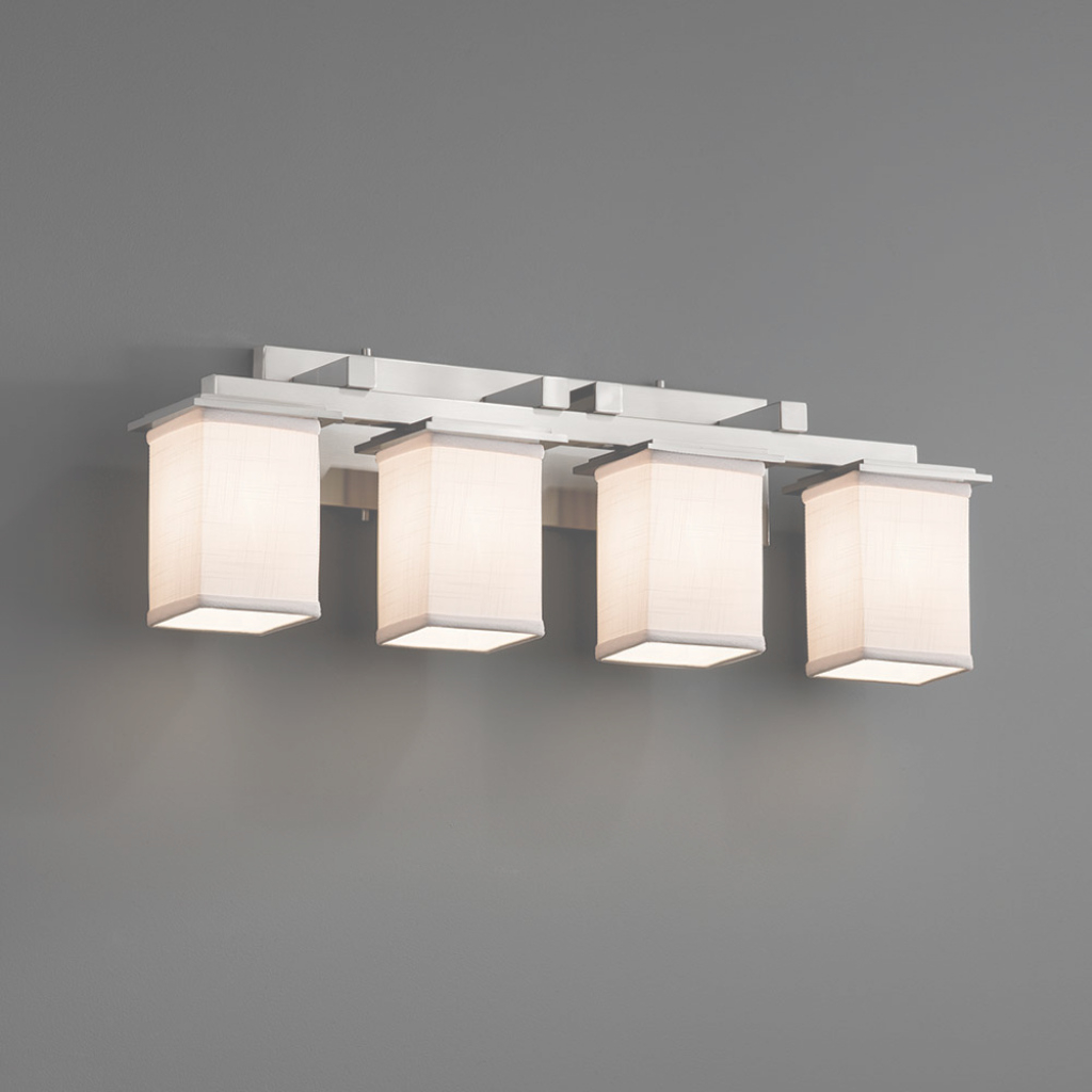 Fancy Justice Design Fab-8674 Montana Textile 4-Light Bathroom Vanity regarding Bathroom Vanity Lighting