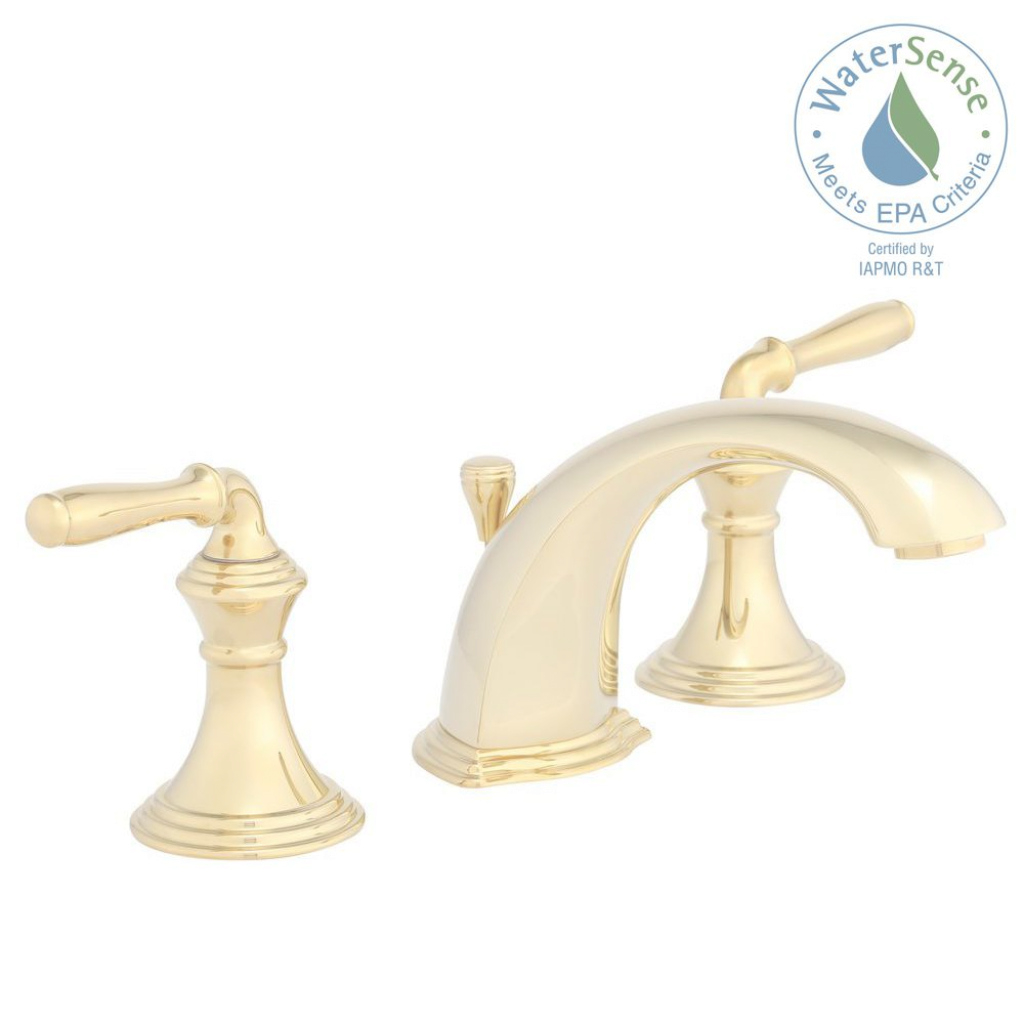 Fancy Kohler Devonshire 8 In. Widespread 2-Handle Low-Arc Bathroom Faucet for High Quality Brass Bathroom Sink