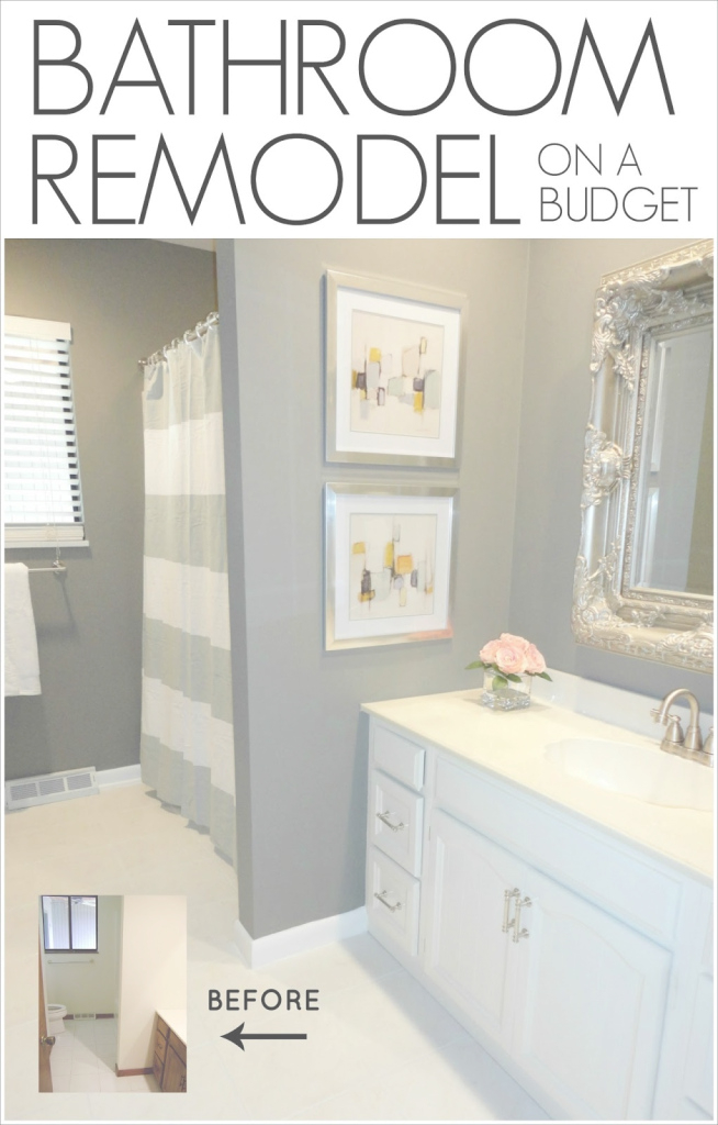 Fancy Livelovediy: Diy Bathroom Remodel On A Budget pertaining to Inexpensive Bathroom Remodel Ideas
