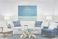 Fancy Living Room : White Fabric Sofa Blue Throw Pillow Blue Fabric throughout Best of Beach Living Room Furniture