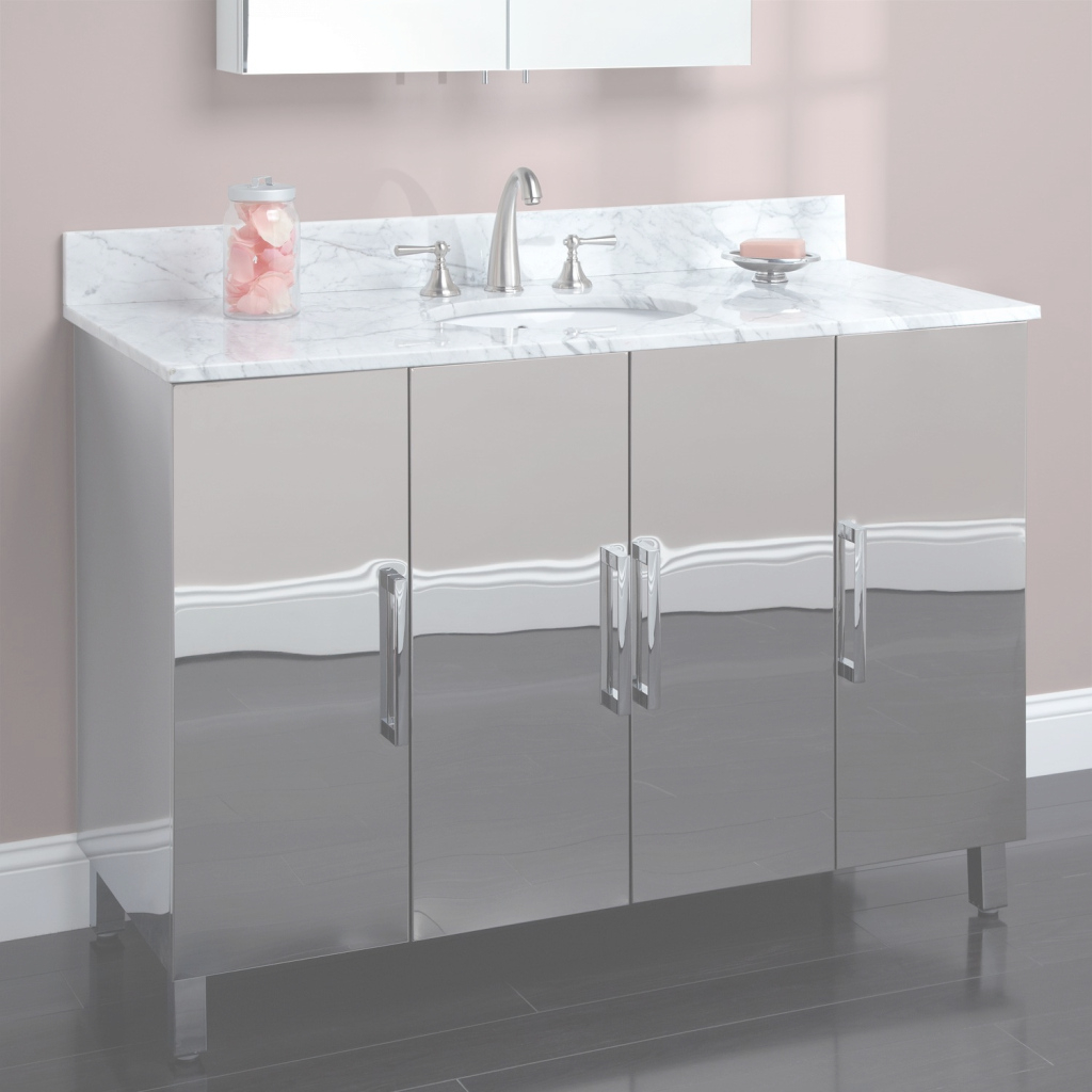 Fancy Metal Bathroom Vanity Silver : Top Bathroom - Special Ideas About within Set Metal Bathroom Vanity