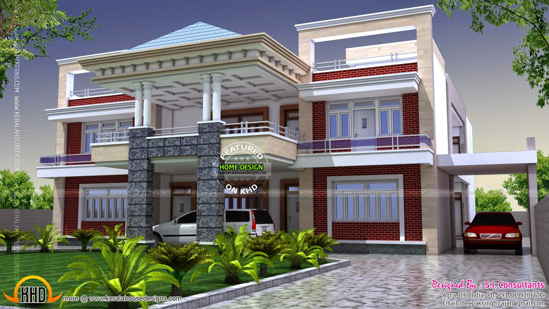 Fancy Modern Indian Bungalow House Plan Outstanding Exterior Designs Style in Awesome Indian Home Exterior Design