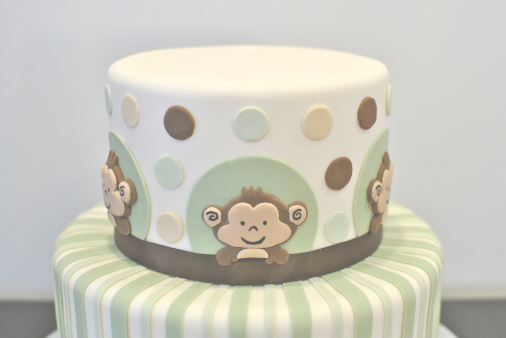 Fancy Monkey Baby Shower Cake | Decorate This! with Lovely Baby Shower Monkey Cakes