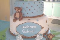 Fancy Monkey Boy Baby Shower Cake – Cakecentral pertaining to Baby Shower Monkey Cakes