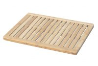 Fancy New Bamboo Shower Mat 100% Natural Bamboo Bath Mat Non Slip Shower for Bathroom Floor Mat