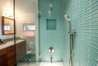 Fancy New Blue Glass Tiles Bathroom – Kezcreative throughout High Quality Blue Glass Tile Bathroom