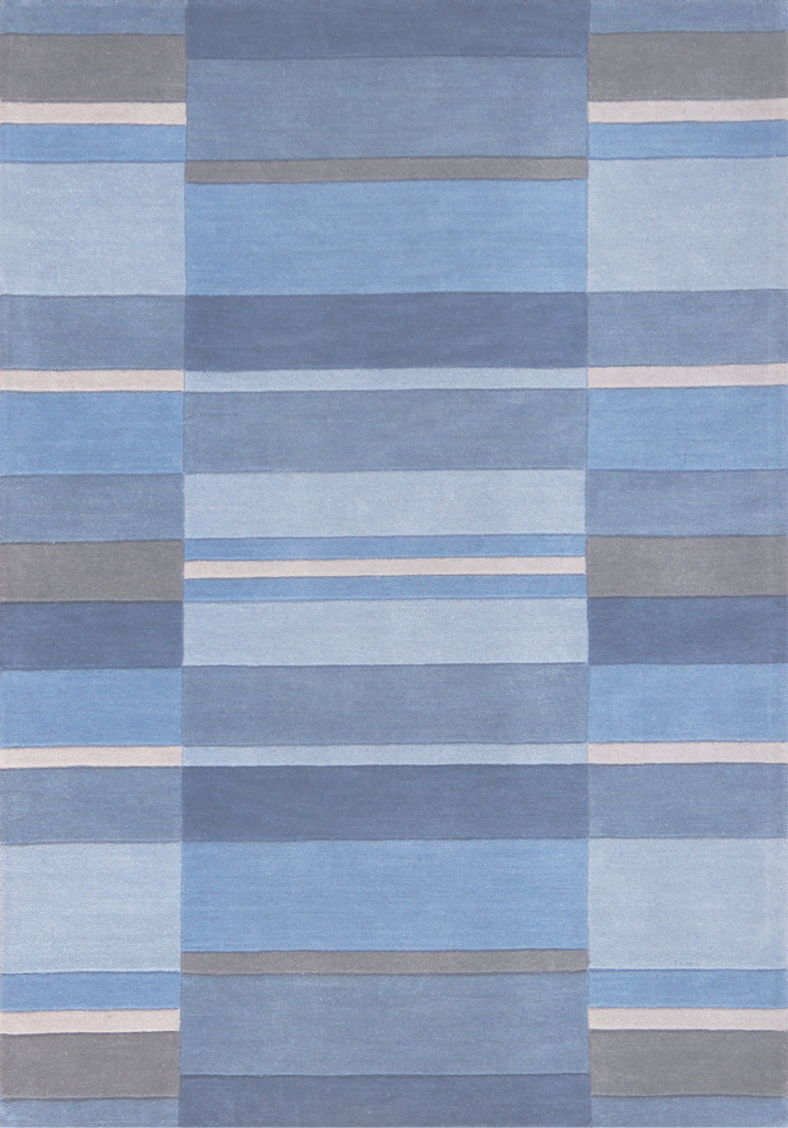 Fancy Oriental Weavers Jazz Blocks Dusky Blue Rugs with Dusky Blue