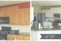 Fancy Paint Kitchen Cabinets Before And After Photo — Humming Birds regarding Painted Kitchen Cabinets Before And After