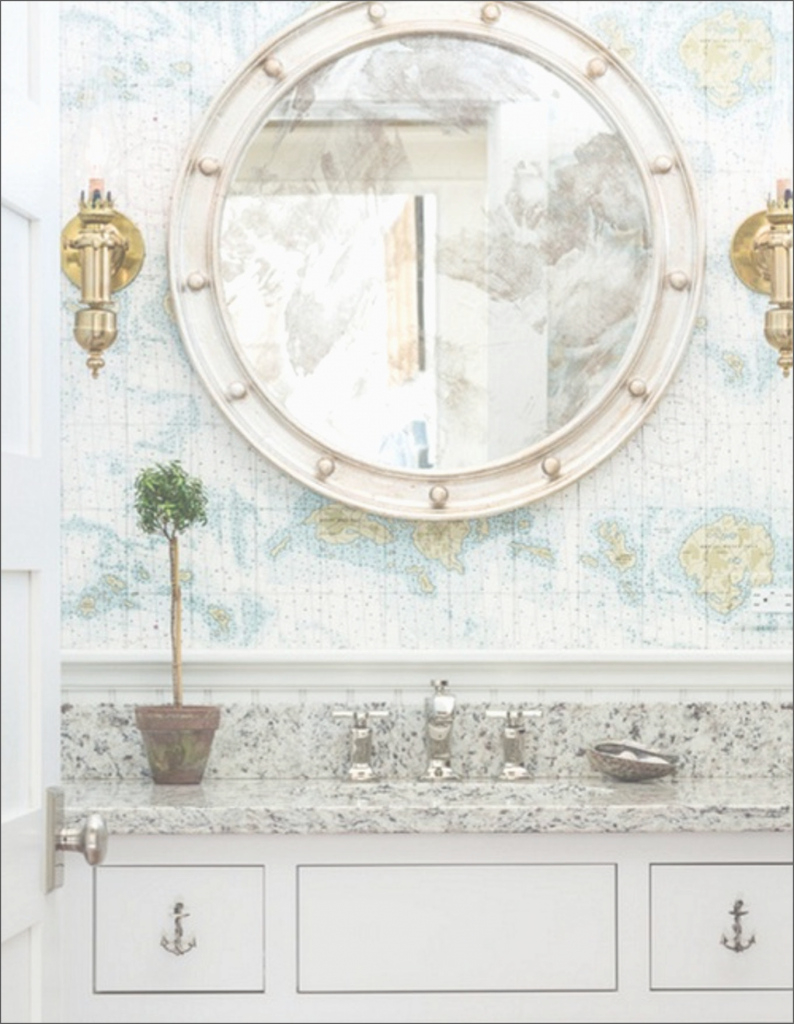Fancy Particular Bathroom Mirrors Coastal Portlight Mirrors Nautical within Awesome Nautical Mirror Bathroom