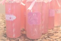 Fancy Pink Lemonade Baby Shower Bottle Drinks | Baby Girl Pink Shower within Pink Baby Shower Punch