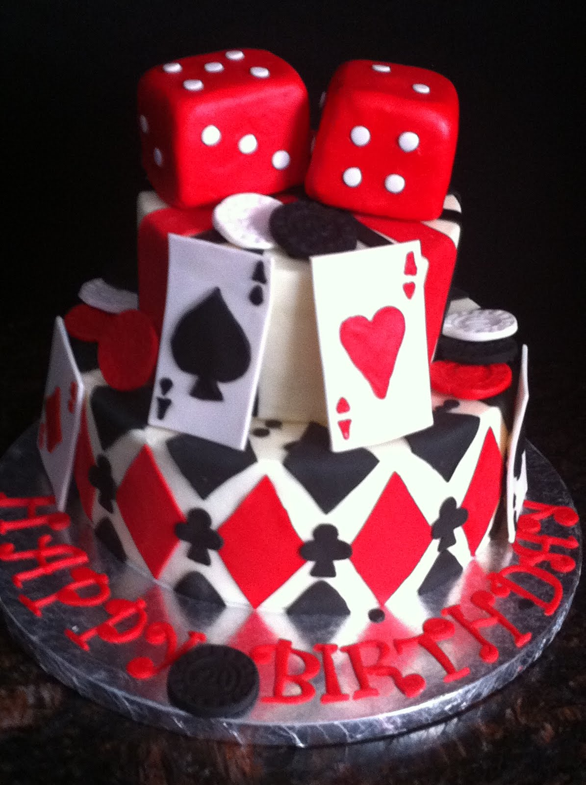 Fancy Playing Card, Poker, Casino Theme Cakes And Cupcakes - Cakes And inside Casino Theme Party Decorations
