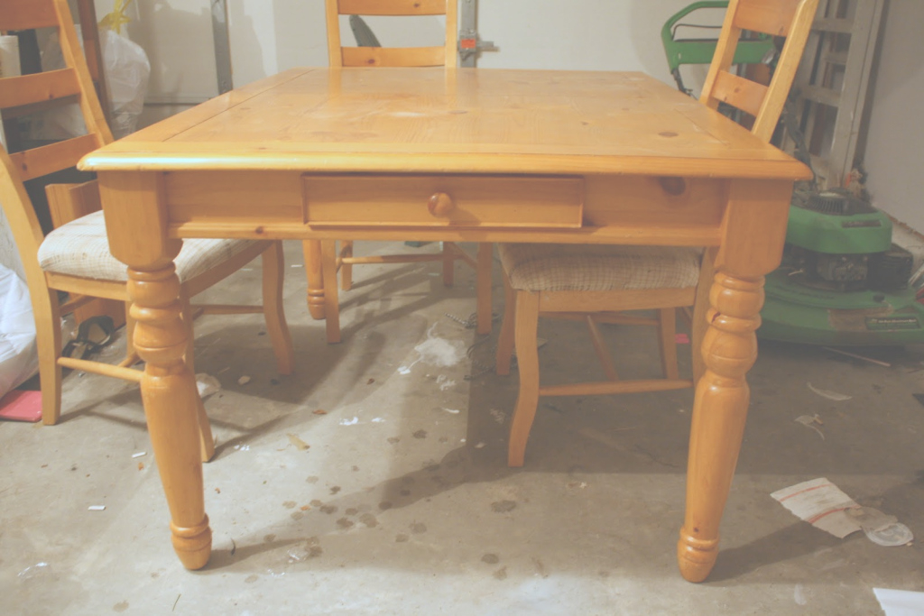 Fancy Refinishing The Dining Room Table - Shannon Claire with regard to How To Refinish A Dining Room Table