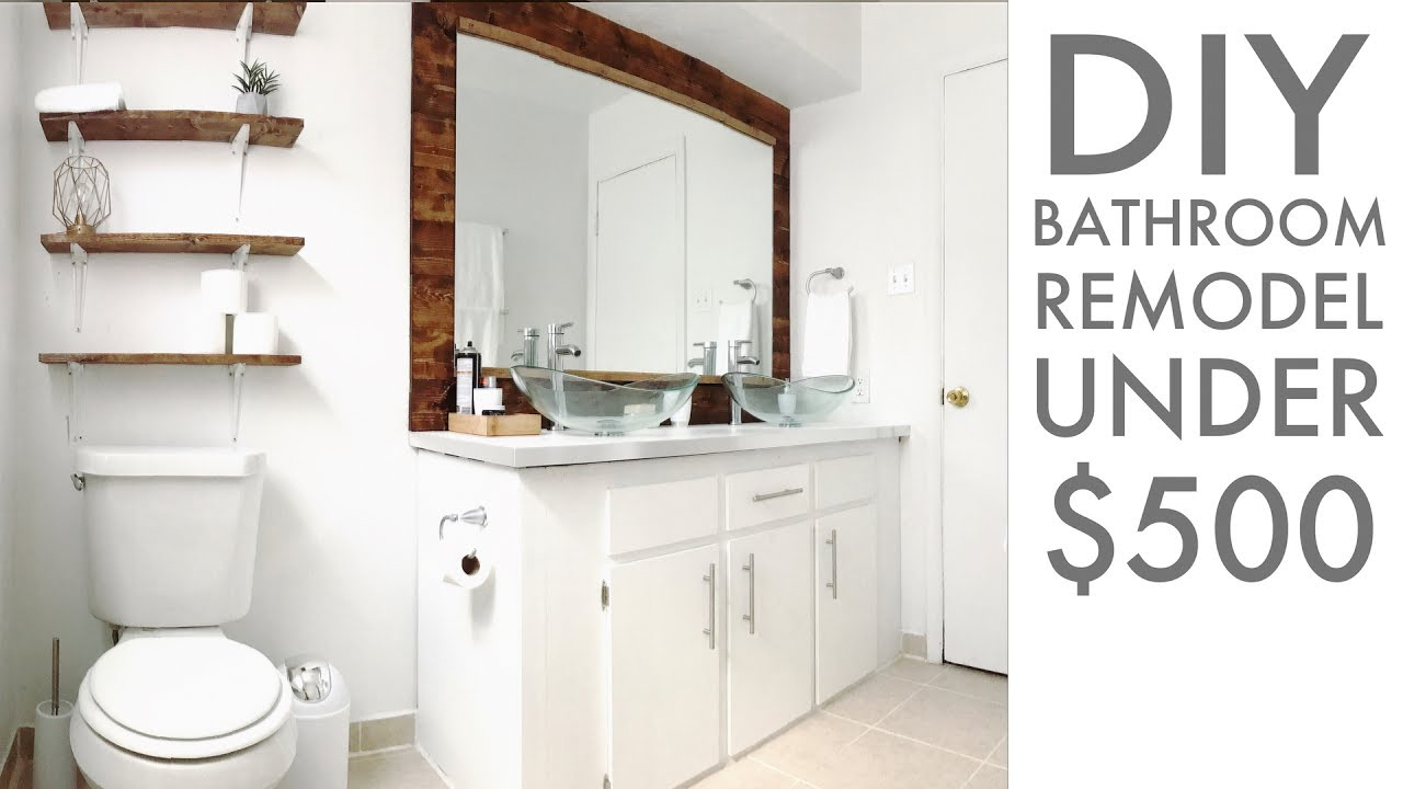 Fancy Remodeling A Bathroom For Under $500 | Diy | How To | Modern Builds in Lovely Bathroom Remodel Diy