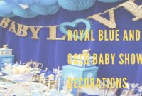 Fancy Royal Blue And Gold Baby Shower Decorations – Youtube for Luxury Royal Blue And Gold Baby Shower Ideas
