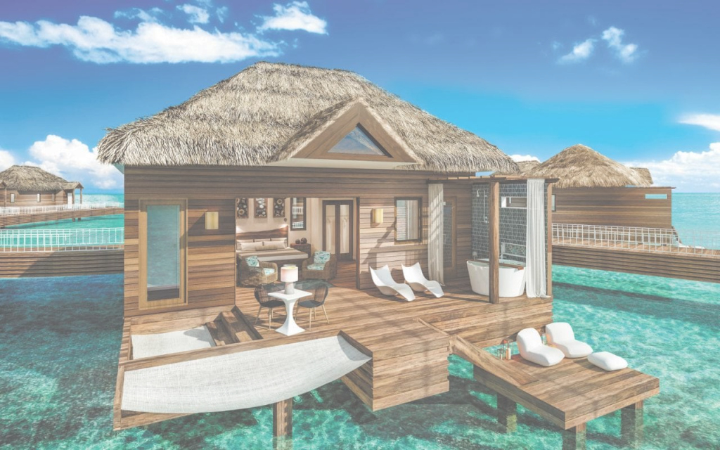 Fancy Sandals Royal Caribbean: Inside The Region's First Over-Water Villas for Set Overwater Bungalows Jamaica
