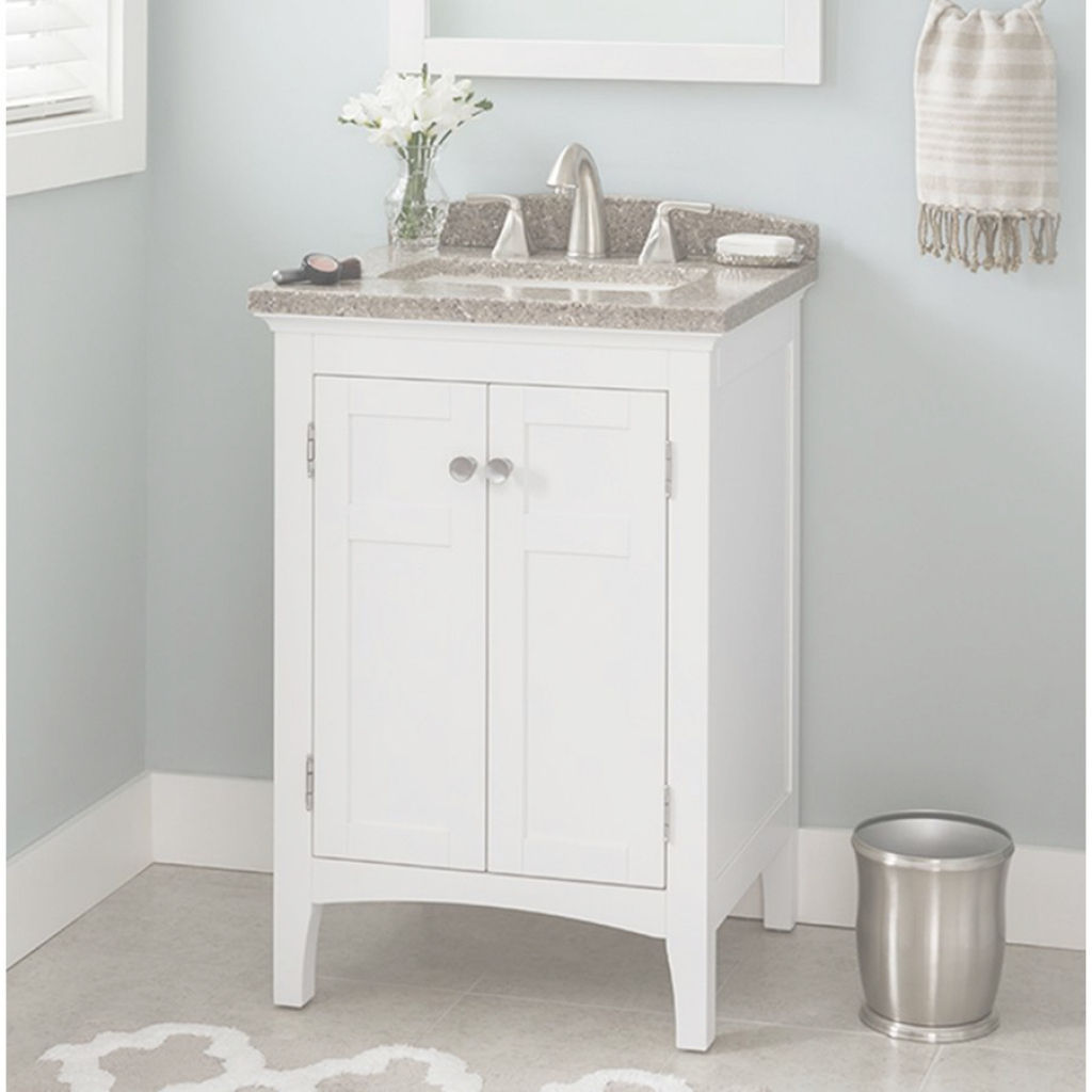 Fancy Shop Allen + Roth Brisette Cream Undermount Single Sink Poplar intended for Allen And Roth Bathroom Vanities