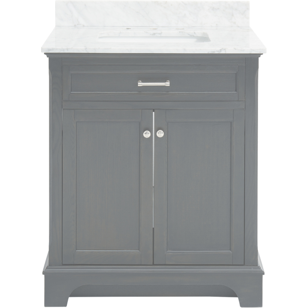 Fancy Shop Allen + Roth Roveland Black Oak Undermount Single Sink Bathroom regarding Allen And Roth Bathroom Vanities