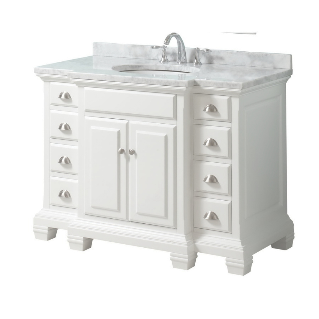 Fancy Shop Allen + Roth Vanover White Undermount Single Sink Bathroom with Allen And Roth Bathroom Vanities