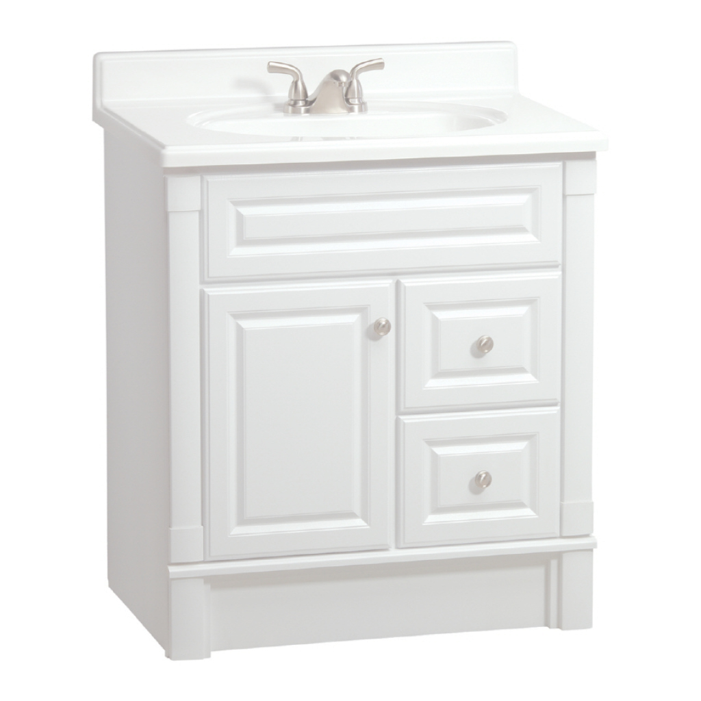 Fancy Shop Estatersi Southport White 30-In Casual Bathroom Vanity At with Inspirational 30 White Bathroom Vanity
